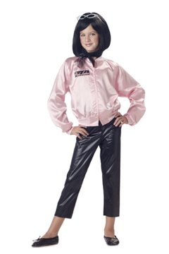 Grease 50's Pink Satin Jacket with Cire Pants Child Costume Size X-Small #00265