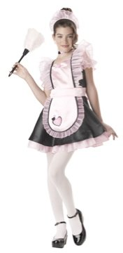 French Maid Tween Child Costume Size: X-Large