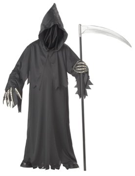Grim Reaper Deluxe Child Costume Size: Large #00310