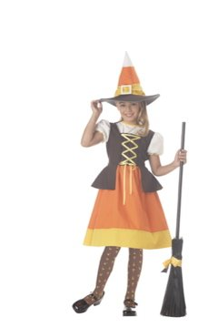 Sweet Candy Corn Witch Child Costume Size: Small