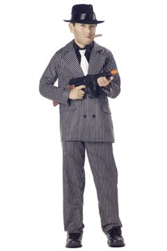 Gangster Mafia Child Costume Size: Small