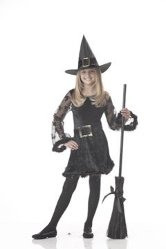 Adorable Witch Child Costume Size: Large #00509