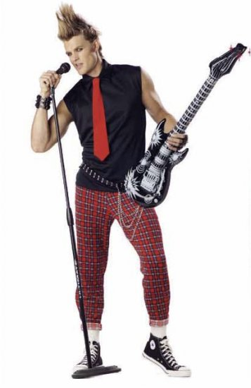 Punk Rocker Adult Costume Size: X-Large