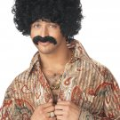 How you doin' Pimp Daddy Afro Adult Costume Wig & Moustache #70362