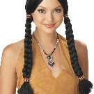 Thanksgiving Indian Maiden Pocahontas Adult Costume Wig #70319
