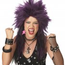 Heavy Metal Rock Star Adult Costume Wig #70030_Purple