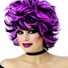Sexy Shag - Black/Pink Costume Wig