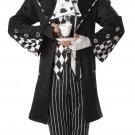 Disney Dark Mad Hatter Alice In Wonderland Adult Costume Size: X-Large #01101