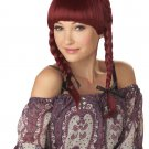 Bohemian Braids Pony Tail Adult Costume Wig #70379