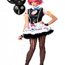 Sassie The Clown Teen Costume Size: Jr (7-9)