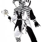 Evil Jester Clown Nobody's Fool Adult Costume Size: Large #01133