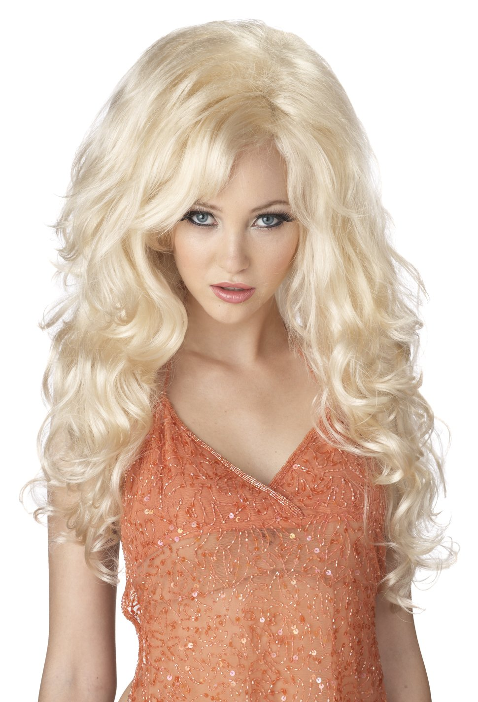 Sexy Vixen Southern Bombshell  Dolly Parton Adult Costume Wig #70631