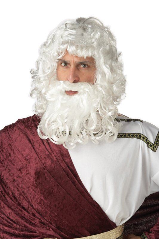 God Zeus Costume Wig and Beard Set or Santa Claus #70478