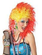 Punk Rock True Colors Cyndi Lauper Adult Costume Wig #70601