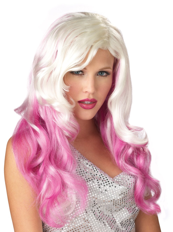 Sexy Vixen Fantasy Waves Mermaid Rock Star Adult Costume Wig #70639