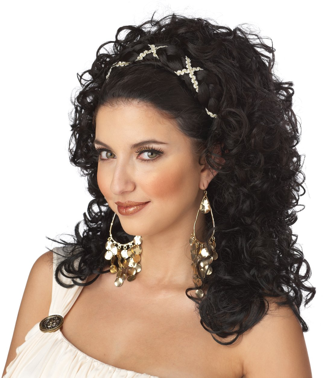 Roman Grecian Goddess Adult Costume Wig #70015_Black