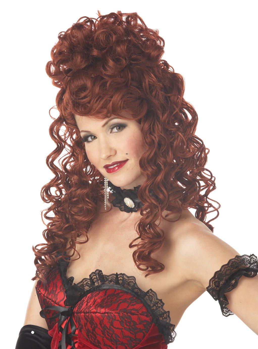 Saloon Madame Costume Wig  (Auburn)