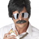 Ace Detective Reno Cop Jim Carrey Adult Costume Wig and Moustache #70644
