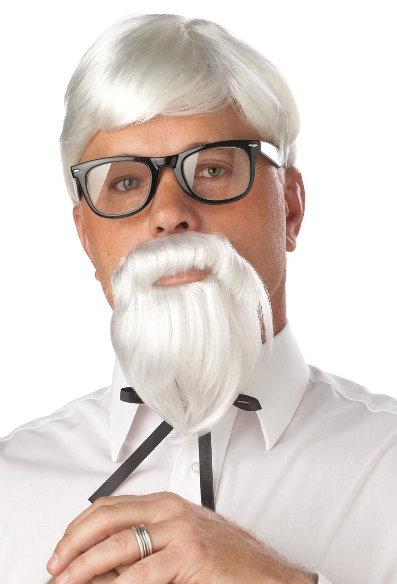 KFC Colonel Sander Adult Costume Wig and Moustache #70106