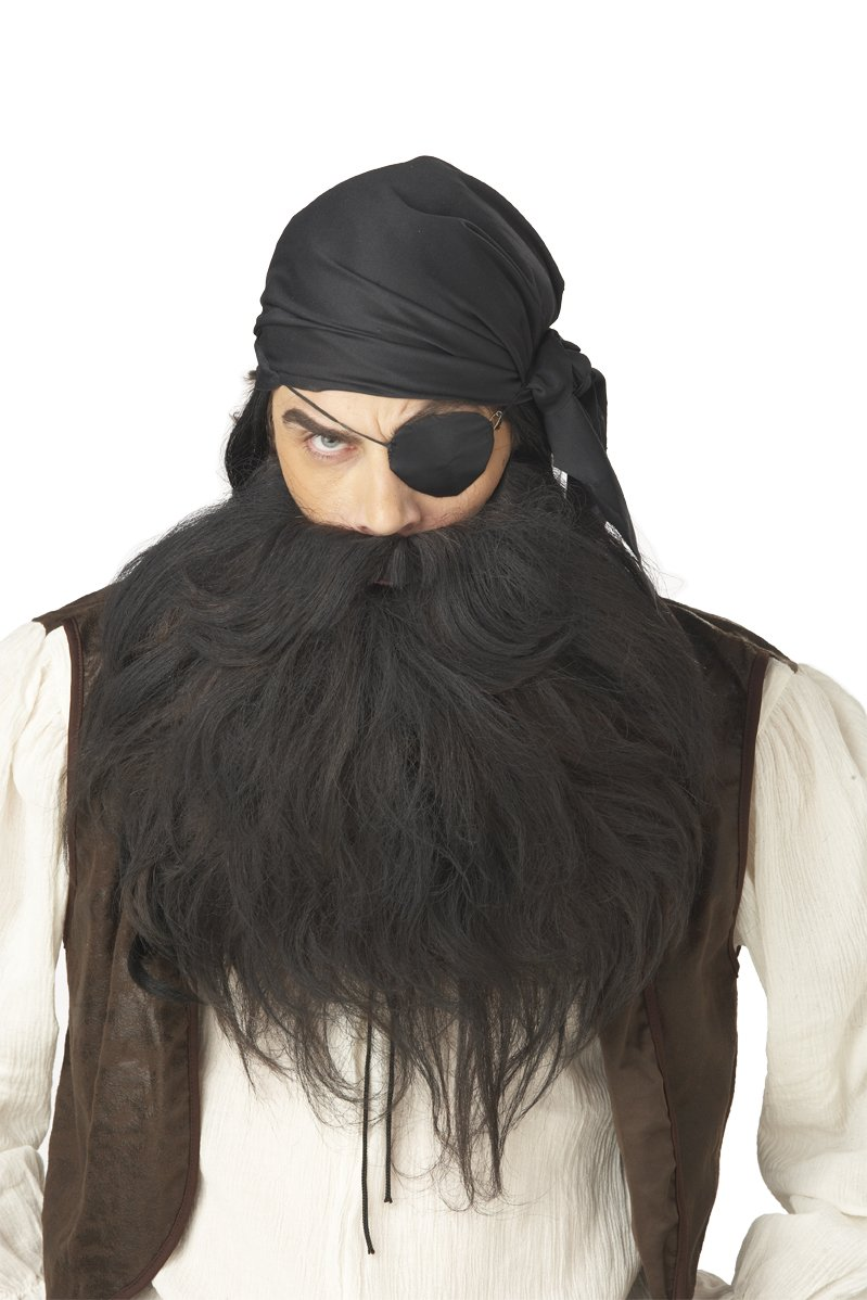 Pirate Buccaneer Costume Beard and Moustache #70490