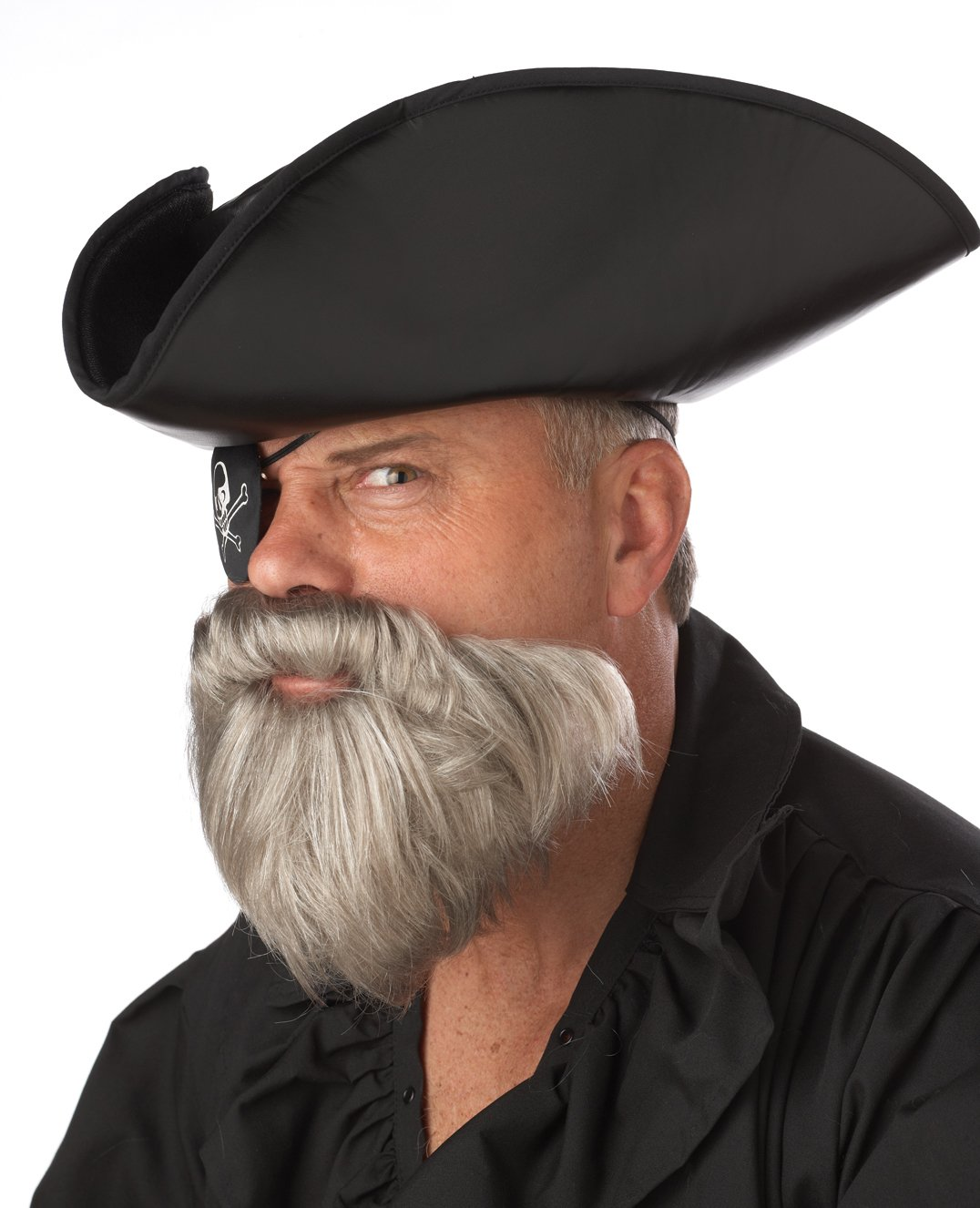 The Captain Pirate Adult Costume Beard and Moustache Accessory #70097