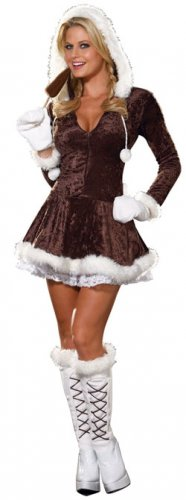 SIZE MEDIUM - Adult Eskimo Cutie Sexy Costume