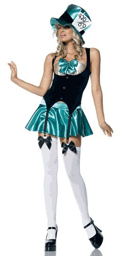 Sexy Tea Party Hostess Mad Hatter Costume Size: Medium/Large #53004