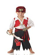 Ahoy Matey Pirate  Toddler Costume Size: Medium #00051