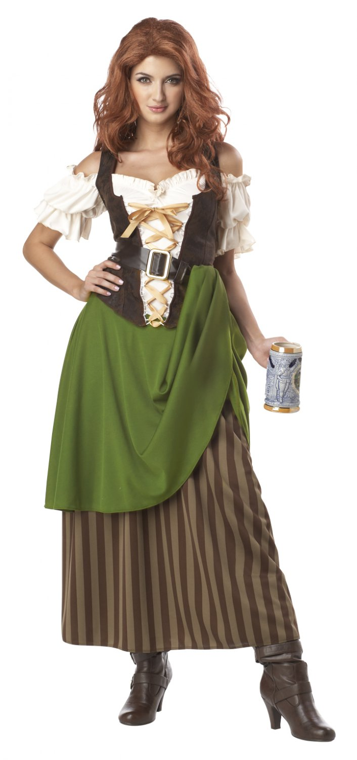 Tavern Maiden Renaissance Adult Plus Size Costume: 2X-Large #01704