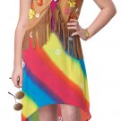 60's Flower Child Hippie Costume Size: X-Large #00349
