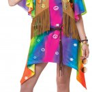 Hippie 60's Groovy Girl Hippie Teen Costume Size: (3-5) #05054