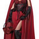 Dark Red Riding Hood  Gothic Adult Costume Size: Large #01185