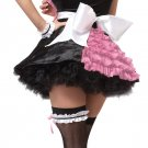 French Maid Ooo La La Adult Costume Size: Medium