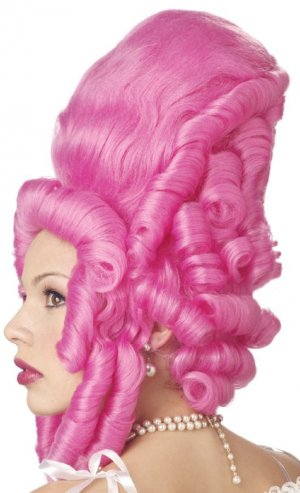 Marie Antoinette Hot Pink French Adult Costume Wig #70234