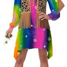 Hippie Chick Tie-Dye Adult Costume (Small)