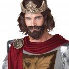 Medieval King Arthur Renaissance Knight Adult Costume Wig #70676