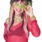Rave Candy Rock Star Adult  Costume Wig #70673