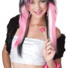 Rave Candy 80's Punk Rock Adult Costume Wig #70619