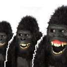 Standard Size:  #60516 Silver Back Gorilla Ape King Kong Monkey Ani-Motion Mask