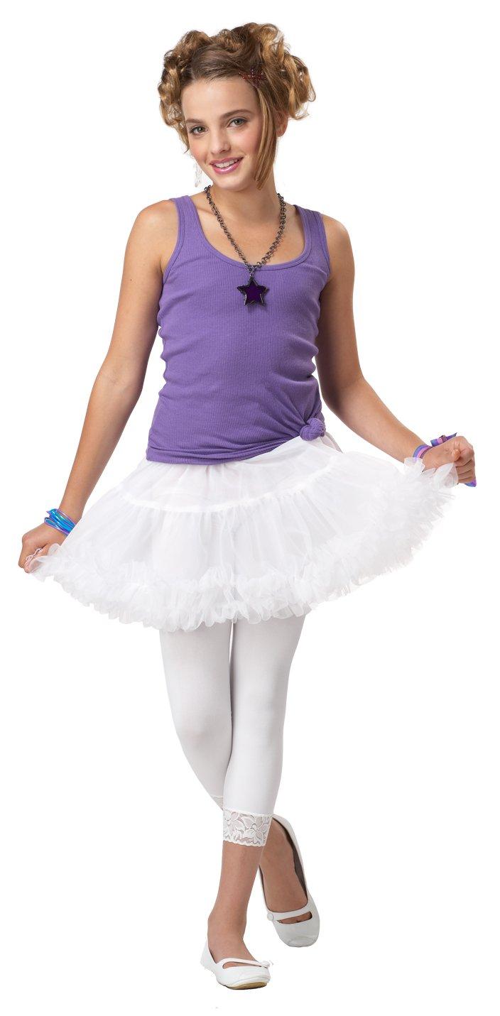 Pettiskirt Ruffled Underskirt Tween Child Costume - White