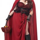 Sexy Gothic Dark Red Riding Hood Plus Size Costume: 2X-Large #01719