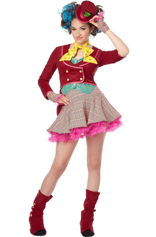 Alice In Wonderland Mad As A Hatter Tween Costume Size: Large #04064