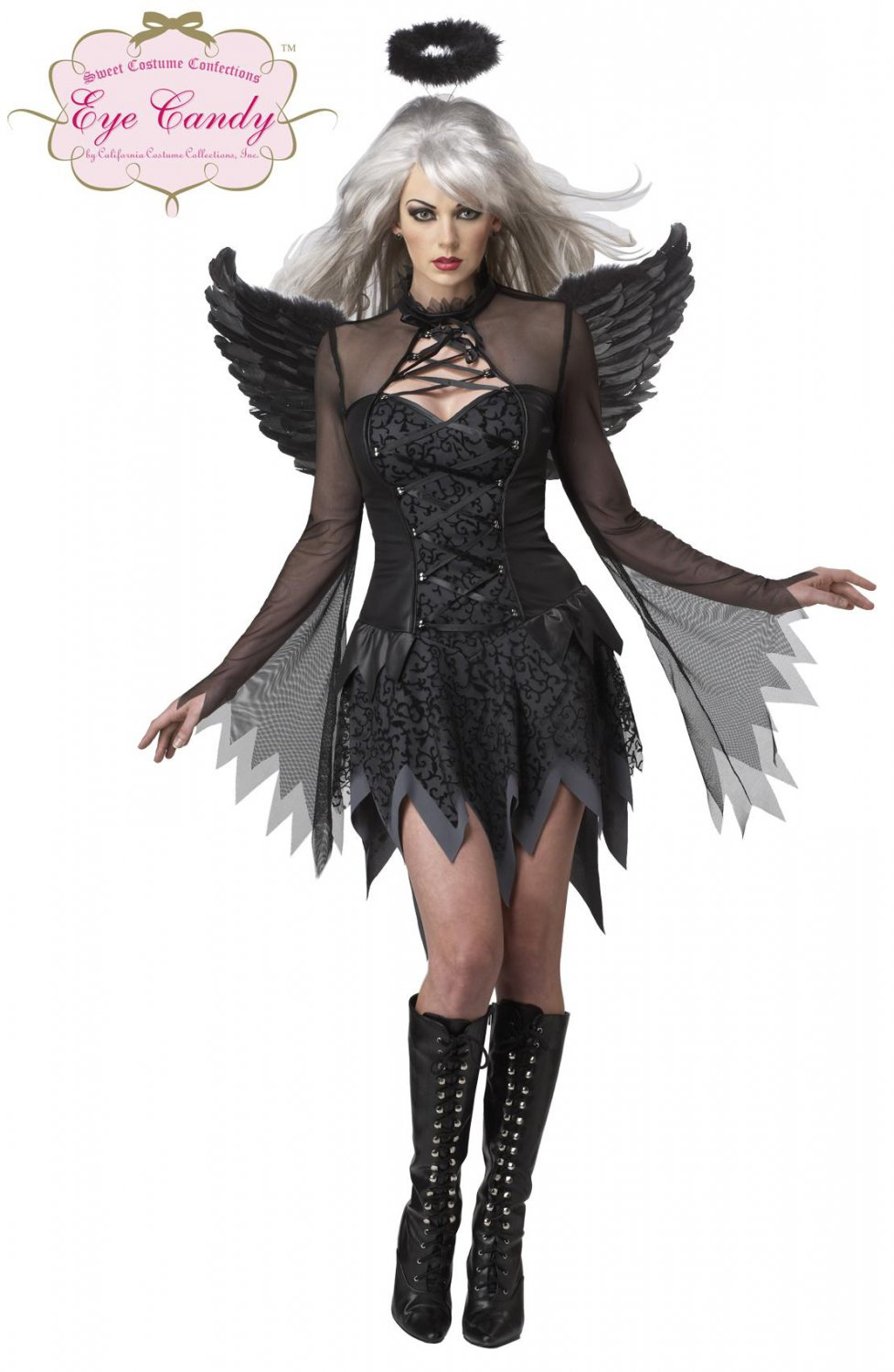 Sexy Fallen Angel Gothic Adult Costume Size: X-Small #01141