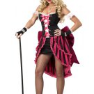 Sexy Parisian Showgirl Burlesque Adult Costume Size: X-Small #01140