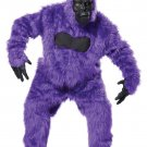 Gorilla King Kong  Monkey Adult Costume #01010_Purple
