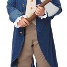 USA President George Washington / Thomas Jefferson Colonial Child Costume Size: Large #00429
