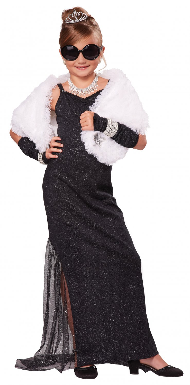 Breakfast at Tiffany's Audrey Hepburn Hollywood Diva Child Costume Size: Medium #00447