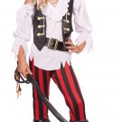 Posh Pirate Buccaneers Child Costume Size: Medium Buccaneer