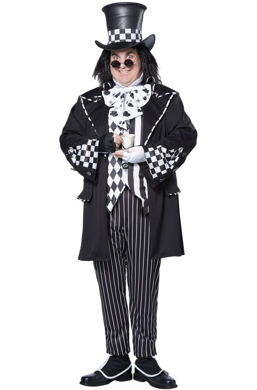 Gothic Dark Mad Hatter Plus Size Adult Costume #01726