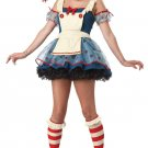 Raggedy Doll Adult Costume Size: X-Small #01376